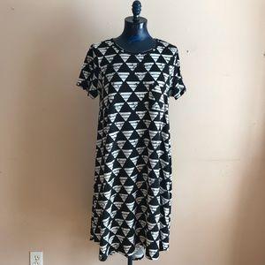 LuLaRoe Triangle Print Carly Tee Shirt Dress